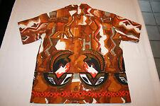 Vtg Reef Hawaiian Shirt Hawaii Tiki Shirt - Mens' Large King Kamehameha