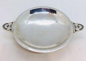 Georg Jensen & Wendel Denmark Antique Sterling Silver 2 Handle Cactus Dish 629A