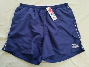 Lonsdale Men's Navy Blue Swim Shorts Size L Large New With Tags