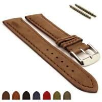 Men's Two-Piece Genuine Nubuck Leather Watch Strap Band 18 20 22 24 Evosa MM