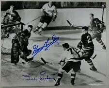 Harry Lumley-Ted Lindsay Autographed Detroit Red Wings Toronto 8x10 Photo W/COA