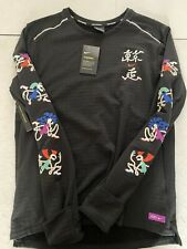 Nike Therma Tokyo Element Sphere Graphic Long Sleeve Running Shirt CT2842 010 L