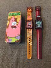2 Spongebob Squarepants Battery Operated Watches 2004 Viacom (Cn)