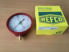 Refco R7-320-M-R407C High Pressure Gauge 100mm 1/4 SAE oil filled bellow gauge