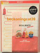 Meal Mate Junk Food Ketchup Mustard Writing Letter & Envelope SET MADE IN JAPAN