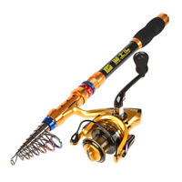 Portable Carbon rod Telescope Fishing Rod Travel  Fish Tackle Accessories SMART