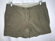 "Columbia L Large Tan Beige Shorts 5.5"" Inseam Cotton Stretch PERFECT Women"