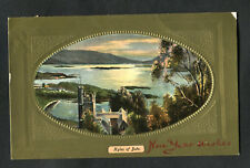 Posted 1909 to Gravesend: New Year Wishes: Kyles of Bute