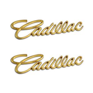 2x Gold Cadillac Car Fender Trunk Emblem for ATSL XTS ATS CTS Deville Escalade