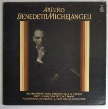 Arturo Benedetti Michelangeli Ravel Rachmaninoff Ettore Gracis Angel S-35567 LP