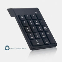 AM_ EE_ UK_ 18 Keys Mini USB Wireless Numeric Keypad Keyboard Numpad for PC Lapt