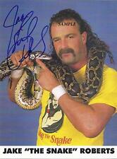 JAKE THE SNAKE ROBERTS #2 REPRINT AUTOGRAPHED 8X10 SIGNED PICTURE PHOTO WWF RP