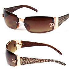 New DG Eyewear Womens Wrap Oval Rectangular Sunglasses Designer Shades Fashion