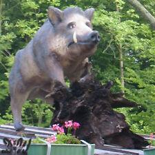 WILDSCHWEIN KEILER lebensgroß stehend Garten Deko Figur Tier WILD WALD TIERE