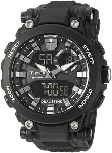 Timex Men's DGTL Analog-Digital Dual Time Black Resin Watch TW5M30600