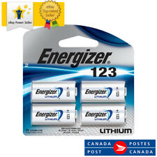 4 x Energizer Lithium CR123 batteries 3V 123A CR17345 EL123 Camera EXP 12-2028