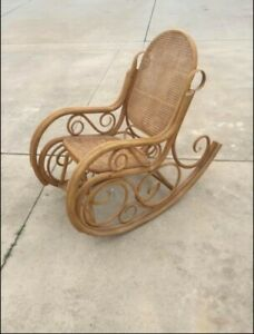 Boho - Rattan/Cane Webbing rocking chair or accent chair.