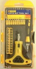 42pc SCREWDRIVER BIT RATCHET SET SLOT PHILLIPS POZI TORX HEX F.U.M. TOOLS FUM