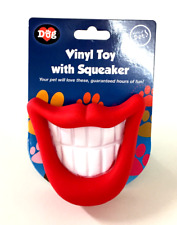 Dog Toy With Squeaker/ Vinyl Chew/ SMILE TEETH LIPS