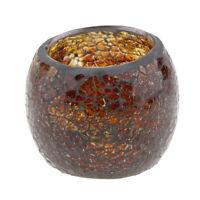Tabletop Mosaic Glass Candle Tea Light Holder Votive Candleholder Bowl #7