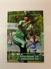 Brailyn Marquez 2018 Signed Eugene Emeralds Team Card