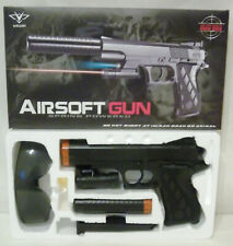 AIRSOFT VIGOR(R) SPRING POWERED PISTOL No:2122-A3 with LIGHT & MUFFLER in box!