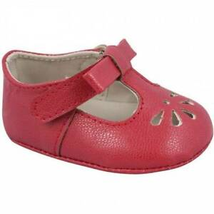 Baby Deer Red T-Strap Baby Shoes Size 0 1 2 3