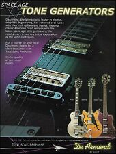 Guild DeArmond Jetstar Bass Starfire M75T Guitar ad 8 x 11 advertisement print