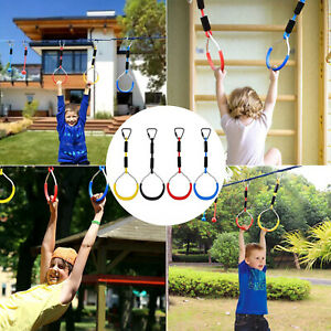 1Pcs Children Trapeze Heavy Duty Gymnastic Ring Bar Pull Up Gym Rings Outdoor UK