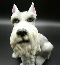 "5.75"" Schnauzer / Terrier Sitting Dog Figurine Aldon Japanese Porcelain Vintage"