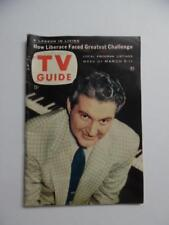 1955 TV GUIDE Magazine Liberace on Cover Disneyland World of Tomorrow Vintage VG