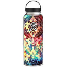 Skin Decal for Hydro Flask 40 oz Wide Mouth / Galaxy Paisley Antique