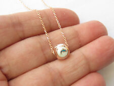 TURKISH ROSE GOLD 925 STERLING SILVER TURQUOISE ENAMEL BALL DOLPHIN NECKLACE