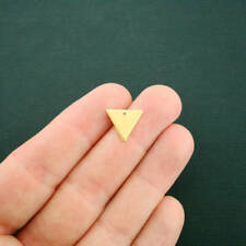 5 Geometric Triangle Charms Gold Plated Copper 2 Sided - GC1202