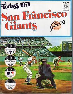 1971 San Francisco Giants Baseball Sticker Album, Willie Mays, Bobby Bonds ~ VG