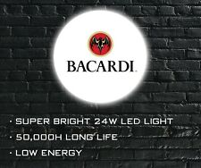 More details for bacardi led wall light, wall mounted led sign for bar, shop, man cave etc