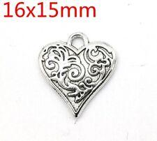 Tibetan silver Beautiful  fashion  heart pendant Bracelet jewelry 30pcs
