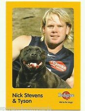 2005 AFL CARLTON NICK STEVENS AND TYSON AUSKICK PEDIGREE CARD
