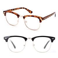 Classic Reading Glasses Half Frame 2 Pack Sleek Vintage Style Unisex