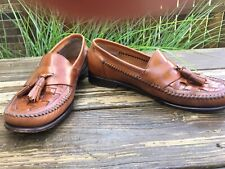 Vtg Bass Weejuns Mens leather tassel loafers size 10 Medium made in Brazil Shies