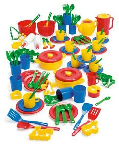 KIDS CHILDRENS PLAY BAKING & DINNER SET by DANTOY 100 pieces by DANTOY tea set