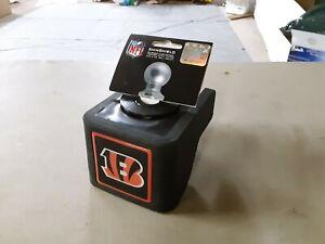 "ShinShield NFL Rubber Trailer Hitch Cover, Cincinnati Bengals, 2-1/2"" Ball 1176"