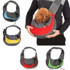 Pet Carrier Puppy Dog Cat Pouch Sling Mesh Outdoor Shoulder Chest Backpack Bag