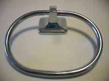 Vintage CHROME Metal Towel Ring Holder Stirup Style Rack Pami Brand Pre-owned