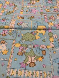 1/2 Yd Leslie  Beck For V.I.P. Fabrics Cranston Bedtime Baby Nursery G2