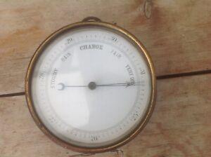 "Vintage Brass Ship Barometer 5"" Diameter"