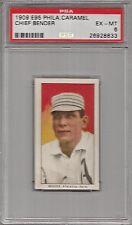 1909 E95 Philadelphia Caramel Chief Bender Card PSA 6 Ex-Mint