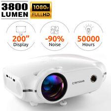 1080P Heimkino LED Beamer Projector 3800 lumens HDMI VGA USB Full HD Multimedia