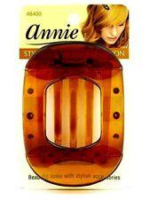 Annie Updo Claw Hair Clip, Clamp, Long Teeth Comb, Brown