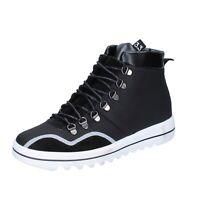 scarpe uomo TREPUNTOTRE 41 EU sneakers nero pelle camoscio BS623-41